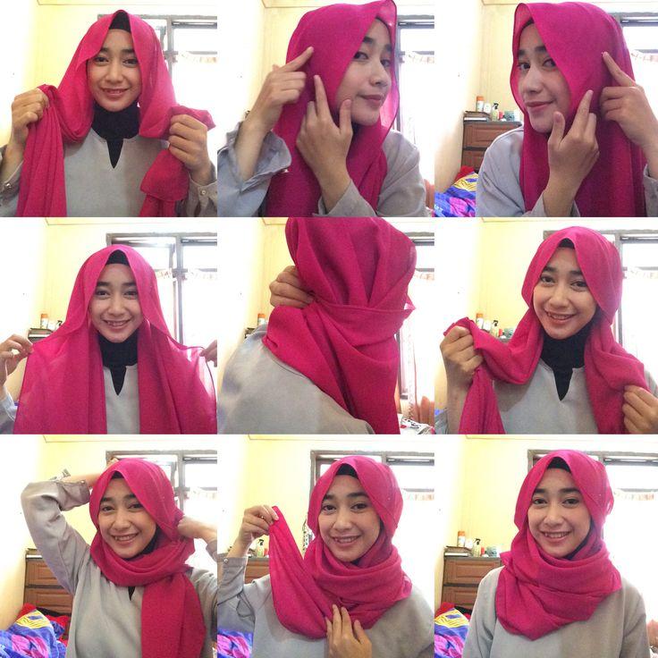 Hijab tutorial  Hana tajima's style  @vvnvaa @le_petitos