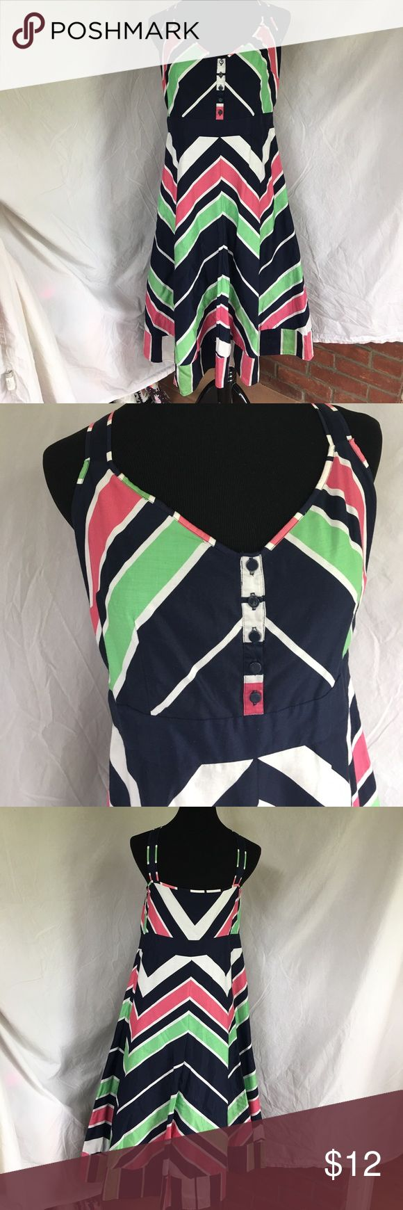 """UK Monsoon Striped A Line Striped Dress Pit to Pit 20"""", Waist 34"""", Length 43"""" - Hello from the UK!  Monsoon Dress - UK Size 14 - roughly translates to US size 12. - one small flaw which is why dress is at such a great price (I just noticed it while listing & have not tried to get out mark) - see last pic Monsoon Dresses"""