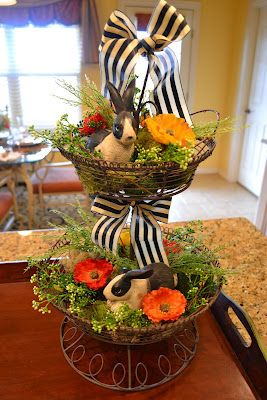 Easter Creations: Pinterest Insprired Decorated Wire Stand