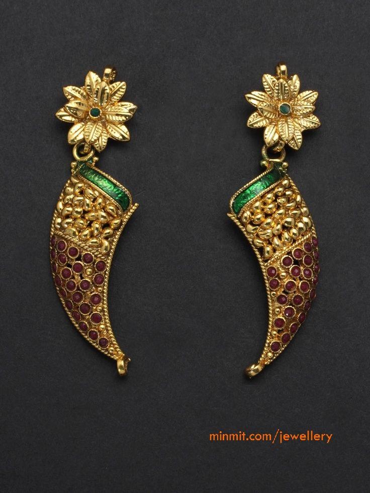 horn shaped earrings