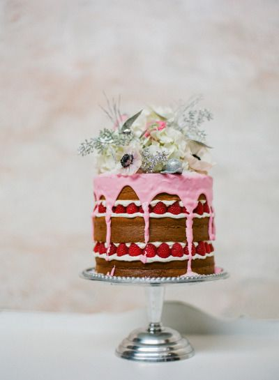 A take on the traditional fruit cake: http://www.stylemepretty.com/2014/12/13/20-ideas-for-a-holiday-wedding/