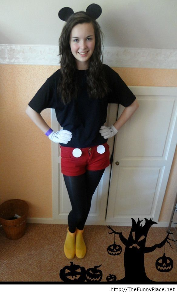 diy tutorial diy halloween costume diy mickey mouse costume beadcord im thinking about dressing as this for halloween - Easy Homemade Halloween Costumes Teens