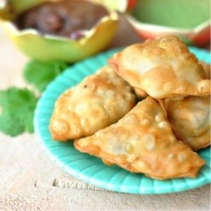 Spicy Potato Samosas - This recipe comes from Julie Sahni's Classic Indian Cooking