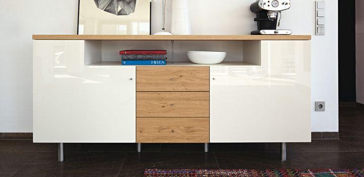 Hulsta Lilac Sideboard Weiß : sideboard now by hülsta bois time buffet contemporain en bois