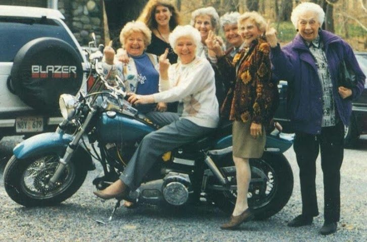 Funny female motorcycle riders biker chicks funny