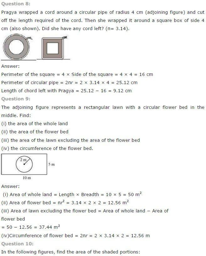 Ncert Solutions For Class 7 Maths Chapter 11 Perimeter And Area Ncertsolutions Cbseclass7maths Ncertclass7mat Maths Ncert Solutions Math Math Vocabulary