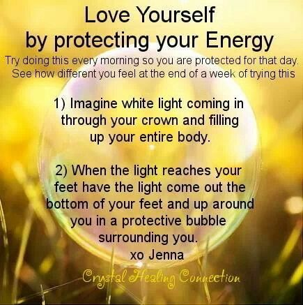 Protecting Your Energy. I would say use as needed. If you need to do it several times a day, do it.