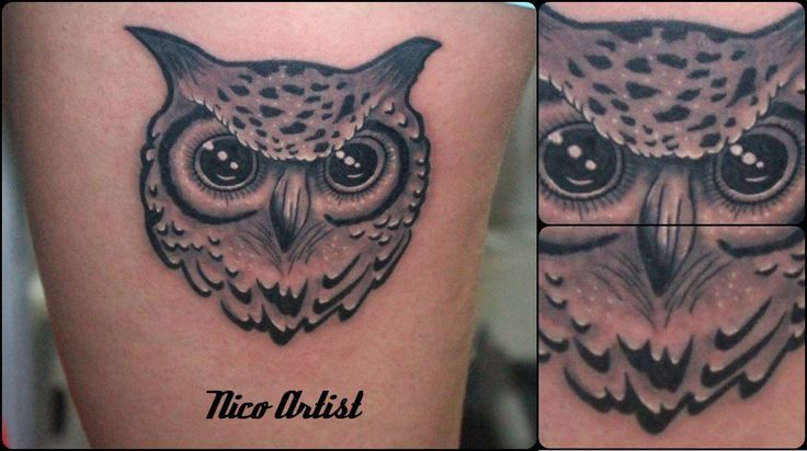 #tattoo #buho #owl #Nicoartist
