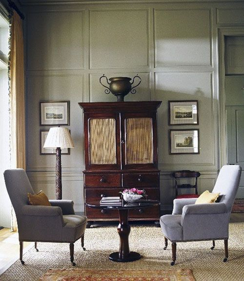 Benjamin Moore Aganthus Green: Sitting Room By Phoebe Howard, Atlanta