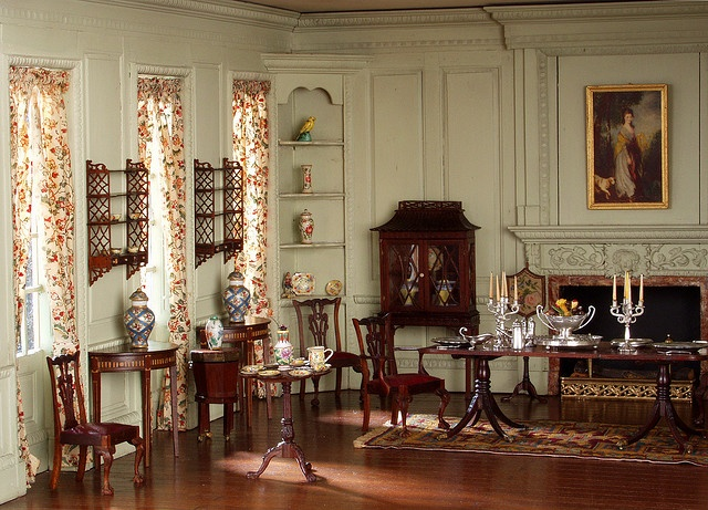 English Dining Room...a Thorne room in Knoxville Museum of Art.