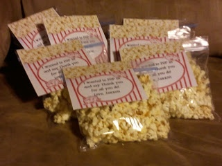 Chocolate covered popcorn...Cookin' Up Fun With Middle School Math: Teacher Appreciation Day 5