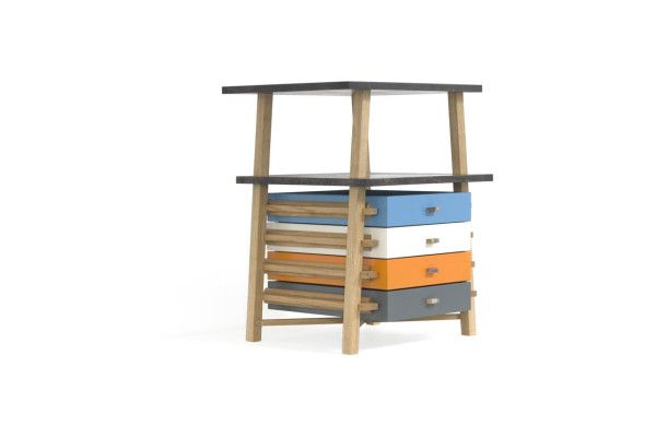 Parity Pedestal Set of Drawers by Gareth Batowski in home furnishings  Category
