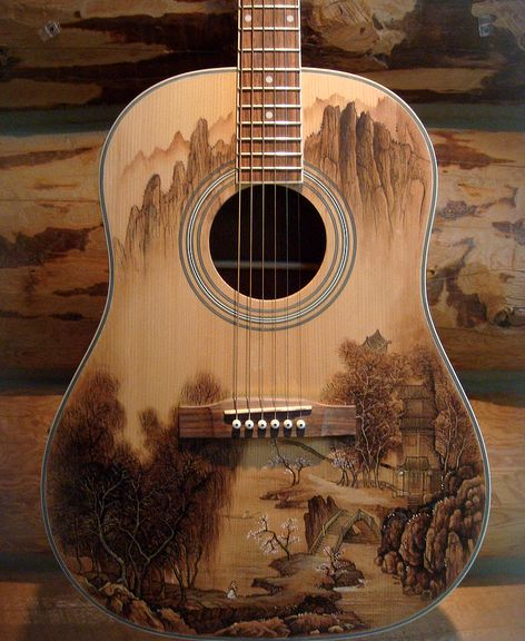 Acoustic Guitar ♥ Brilliant Design!                                                                                                                                                                                 More