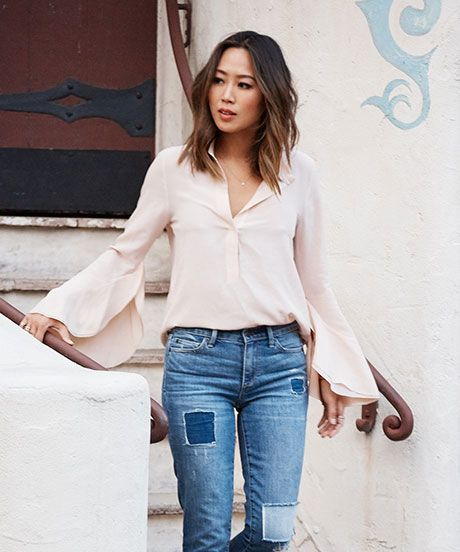 Aimee Song Spring Style Tips | Here, Song of Style's Aimee Song breaks down how she transitions her wardrobe for spring. #refinery29 http://www.refinery29.com/aimee-song-wardrobe-tips