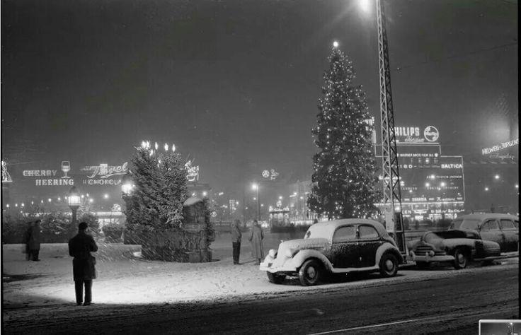 Juletræet på Rådhuspladsen -1954