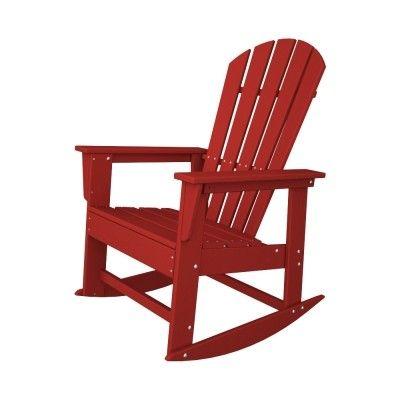 POLYWOOD® South Beach Rocker #adirondack #chair #rockerchair #rocker #outdoor #patio #furniture #outdoorchair  #armchair http://www.acepatiofurniture.com/poly-wood-recycled-plastic-south-beach-rocker-chair.html