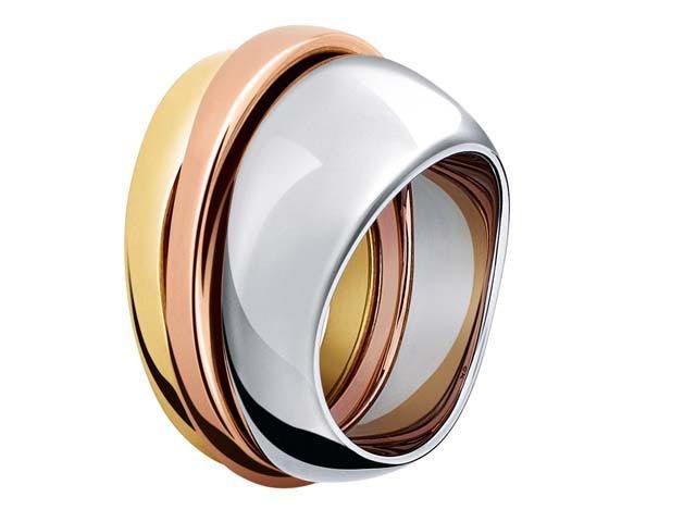 Set di anelli in acciaio e placcati in oro, ck Calvin Klein Jewelry