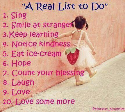 a real list to do quote happy quotes cute quotes quotes and sayings image quotes