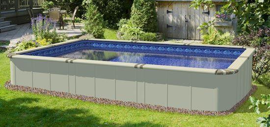 EZ Panel Grand 52 inch rectangular aluminum pool; streamlined, sleek and stunning.