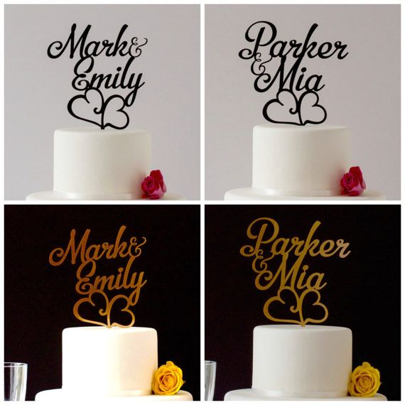 ON SALE First Name Personalized Cake Topper Custom Made Cake