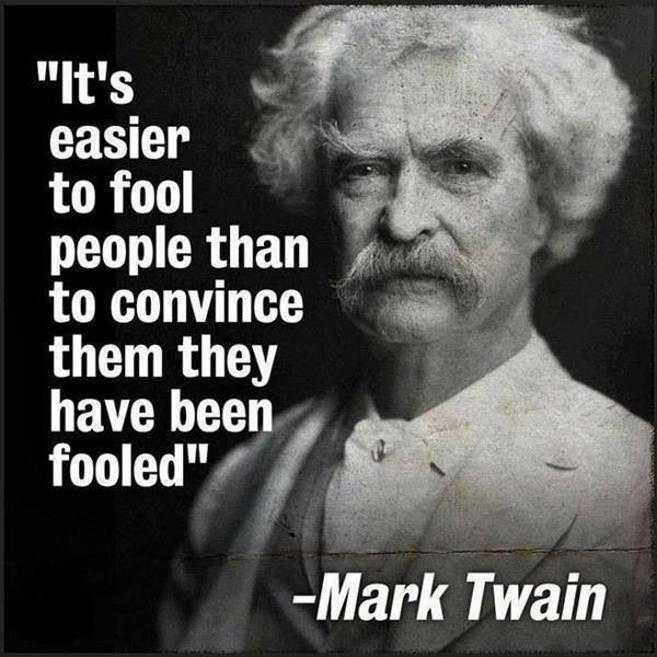 Bildresultat för mark twain citat it's more easy
