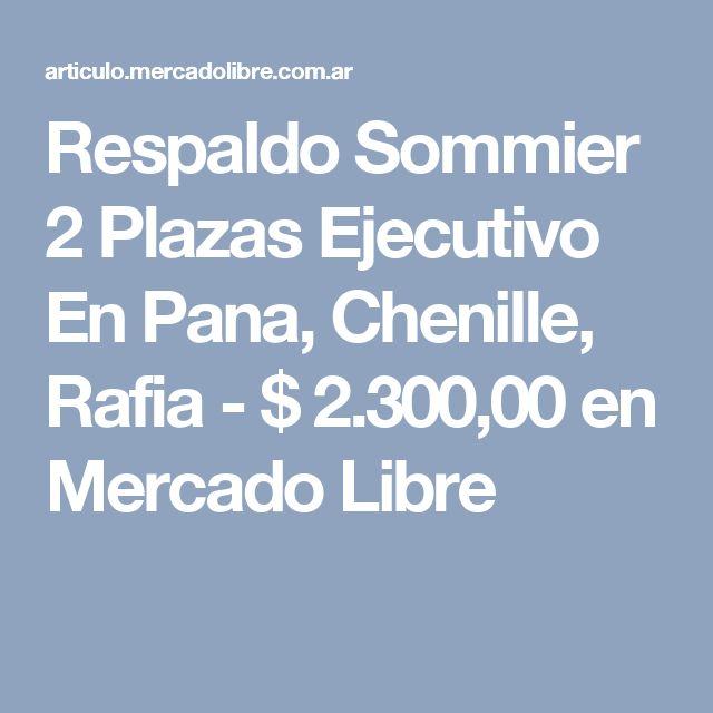 Respaldo Sommier 2 Plazas Ejecutivo En Pana, Chenille, Rafia - $ 2.300,00 en Mercado Libre