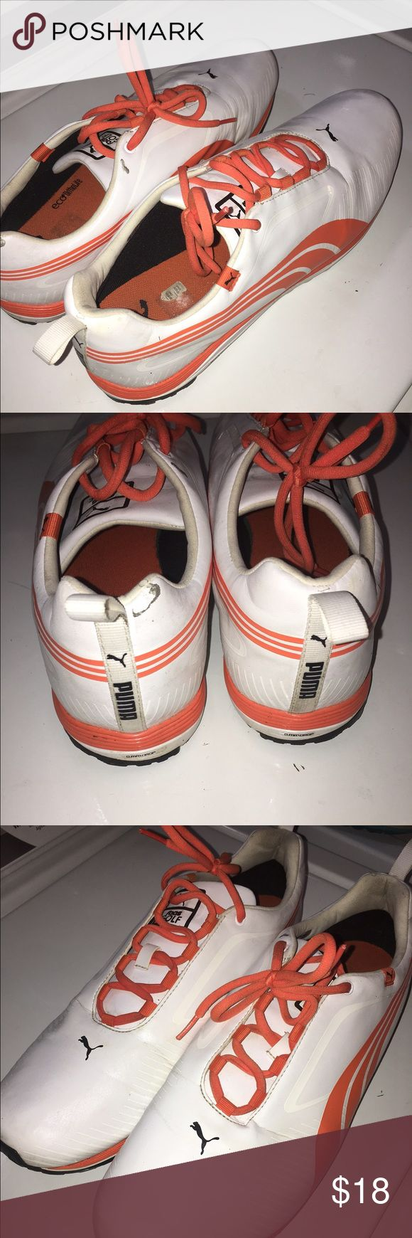 Puma Golf Spikes Men's Size 13 Puma Golf Spikes. Worn for less than 2 months. Maybe 6-7 rounds. Very nice condition with basic wear from a golf course. Plenty of life left in them. Feel free to make an offer. Puma Shoes Athletic Shoes