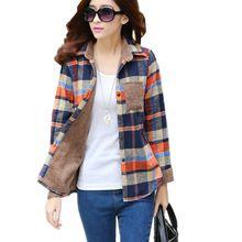 Like and Share if you want this  2016 New Women's Winter Blouse Shirts Fashion Casual Warm Cardigan Shirts Female Long Sleeve Thickening Plaid Shirt Blusas Tops     Tag a friend who would love this! For US $11.99    FREE Shipping Worldwide     Get it here ---> http://womensclothingdeals.com/products/2016-new-womens-winter-blouse-shirts-fashion-casual-warm-cardigan-shirts-female-long-sleeve-thickening-plaid-shirt-blusas-tops/