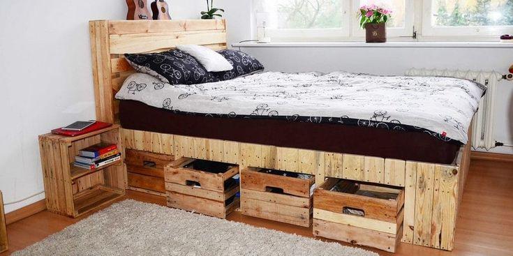 17 mejores ideas sobre camas baratas en pinterest mesa for Camas con palets