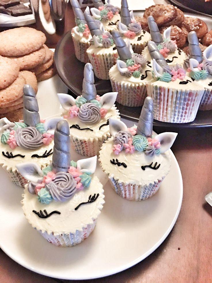 Pretty unicorn cupcakes