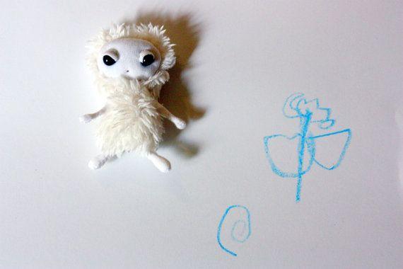 Pocket Polar Pixie Brooch  Art Doll Brooch by LunateAndTheMermaid, $24.00