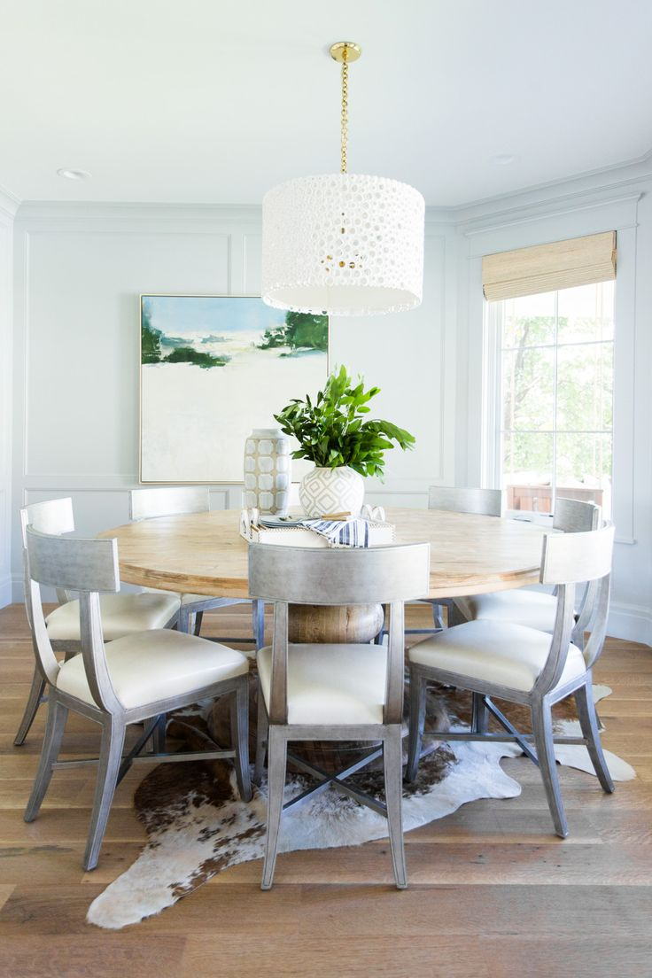 Large round dining room table - Large Round Dining Table Studio Mcgee