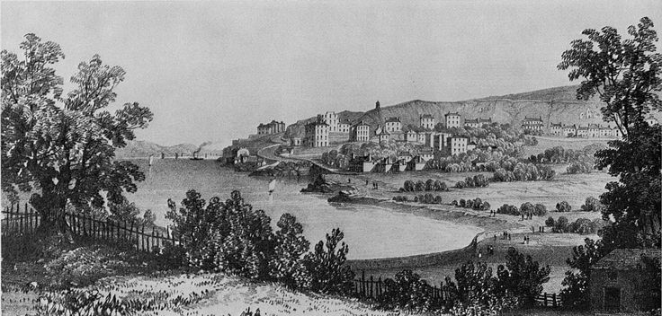 New Clevedon, Looking N.E. from The Church Hill: 1838. A sketch by Lady Elton, printed by C. J. Hullmandel, showing the early development of the town as a Regency bathing-place A VICTORIAN COASTAL ARCADIA CLEVEDON, SOMERSET James Stevens Curl. Country Life (Archive 1901 - 2005)158.4083 (Oct 2, 1975) 830-832.