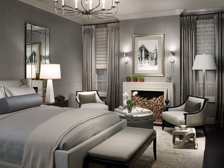 Master Bedroom Gray 409 best chic bedrooms images on pinterest | bedroom ideas, master
