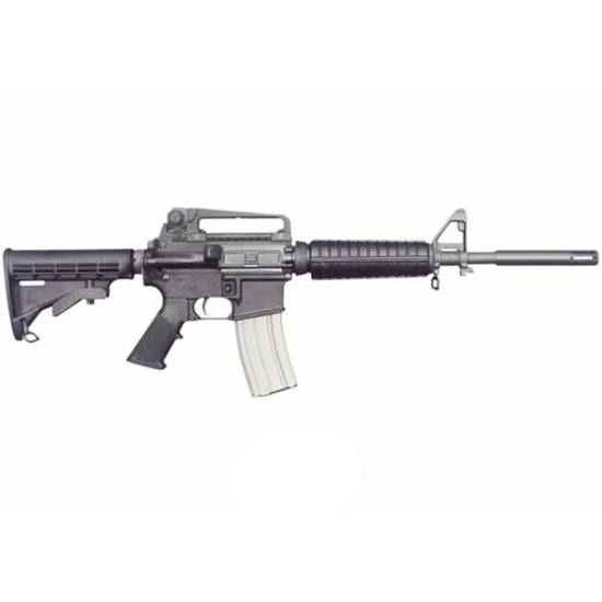 Bushmaster M4 AR-15 Semi Auto .223 Rem/5.56 NATO 11.5 Barrel 5.5 Pinned Hider 1:9 Twist 30 Rounds Flat Top Receiver 6 Position Collapsible Stock Black Finish