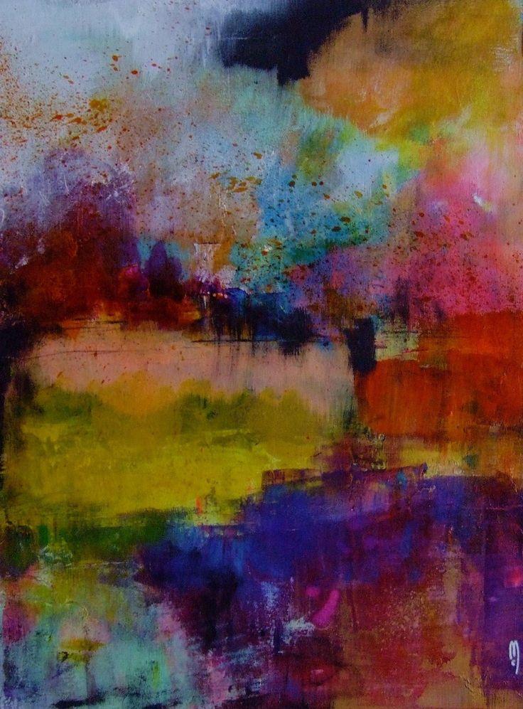 Art abstrait paysage peinture abstraite dessin abstrait art contemporain original décor art