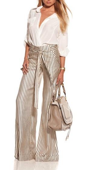 pantalones a rayas