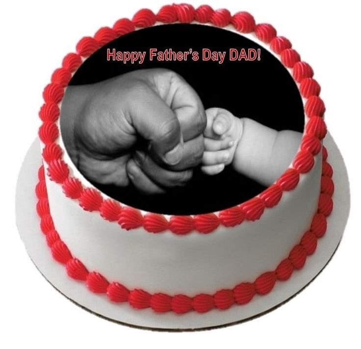 Happy Fathers Day Edible Cake Image Topper