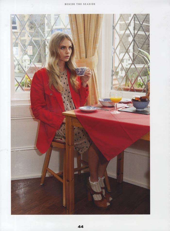 Cara Delevingne in Poneystep Magazine (S/S 2012). Ph. Martin Parr.