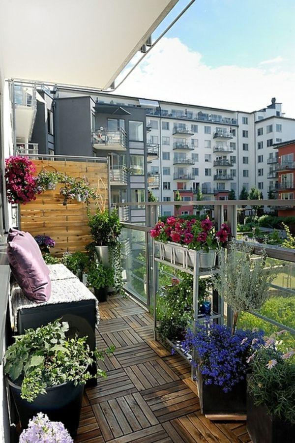 außen architektur balkon seitensichtschutz zeitgenössisch holz pflanzen