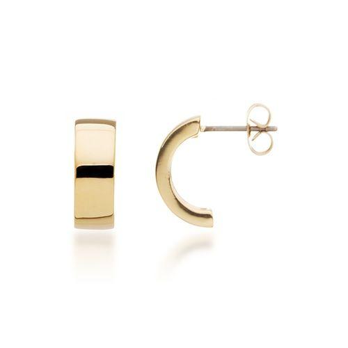 Flat Minime Hoop Earrings in Gold