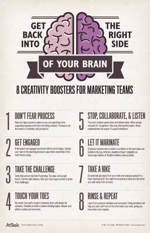 8 Creativity Boosters for Marketing Teams #creativity #marketing #teams