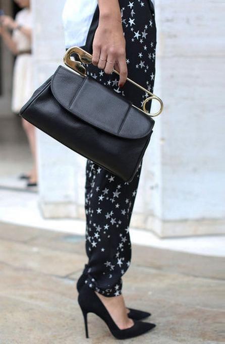 starry pants + bag.