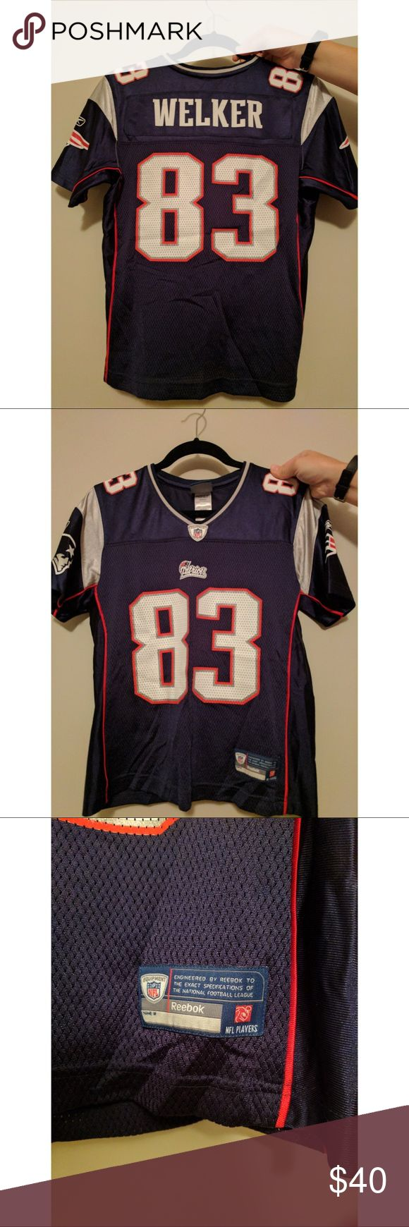 • nfl patriots • 🏈 • wes welker jersey • NFL New England Patriots jersey. Bought straight from the NFL Pro Shop. Barely worn, maybe 2-3 times. It is just too small on me. Great for game days! Tops