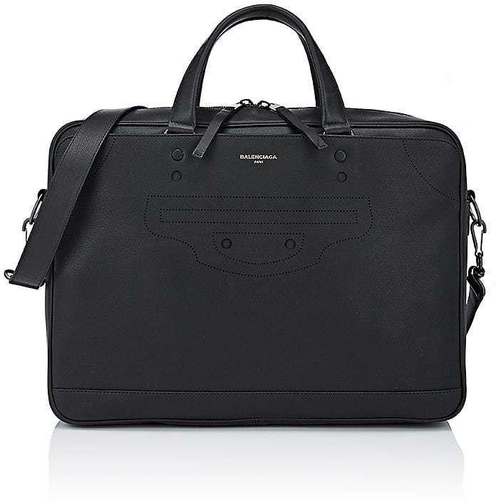 Balenciaga Men's Blackout City Small Briefcase