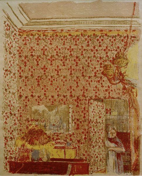 Titre de l'image : Edouard Vuillard - Interieur aux tentures roses I