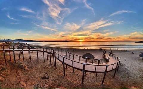 Sunset at Playa Hermosa, Ensenada, Baja California, Mexico