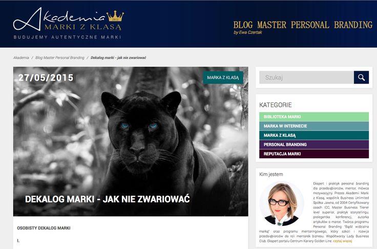 DEKALOG MARKI - JAK NIE ZWARIOWAĆ. Blog Master Personal Branding by Ewa Czertak:  http://www.akademiamarkizklasa.pl/dekalog-marki-jak-nie-zwariowac/