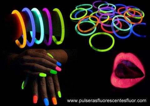 Primer sorteo de Pulseras Luminosas! Sorteamos entre todos los participantes: 1 tubo de Pulseras fluorescentes (100 unidades) o 1 Pack maquillaje fluorescente: Pinta uñas+Pintalabios (bajo luz UV) ------------------------------------------------