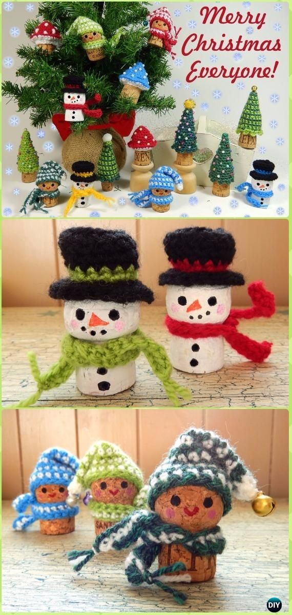 Crochet Christmas Corkers Free Pattern - Crochet Christmas Ornament Free Patterns